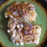APRICOT/PEACH AND SHALLOT THYME GLAZED BAKED COD