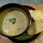 CREAM OF LEEK AND KALE SOUP