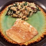SALMON IN A GINGER MARINADE WITH A HEART HEALTHY SIDE DISH
